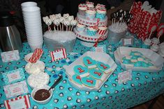 Landon's Winter ONEderland First Birthday Party | CatchMyParty.com