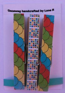 Geocaching colours decorative clothespins (cool idea for geoswag!)