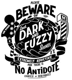 Another tee shirt design for theDudes Factoryabout those dark and fuzzy songs that I enjoy so much, I'm not talking about farts, alt...