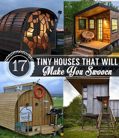 17 Tiny Houses That Will Make You Swoon | Small House Ideas by Pioneer Settler at http://pioneersettler.com/tiny-houses/