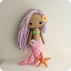 Ocean Animal Softies Sewing Patterns - Felt With Love Designs Do It Yourself Inspiration, Mermaid Dolls, Little Doll, Felt Dolls, Rag Dolls, Doll Patterns, Easy Patterns, Sewing Patterns, Felt Art