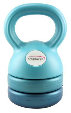 3-in-1 Kettlebell: Adjustable to 5, 8 or 12 pounds. Great tool for a beginner kettebell user. Easy on the eyes, too! | #gift #fitness #holiday #strength