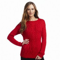 Chaps sweaters at Kohl's - Shop our entire selection of women's sweaters, including this Chaps Cable-Knit Lurex Sweater, at Kohl's. Winter Season, Cable Knit, Sweaters For Women, Pullover, Stitch, Knitting, Shopping, Fashion, Winter