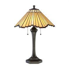 Quoizel TF2806TWT Sunrays 2 Light Tiffany Style Table Lamp
