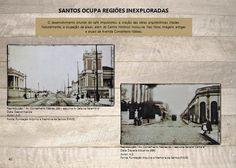 Santos ocupa regiões inexploradas - O desenvolvimento oriundo do café impulsionou a criação das obras arquitetônicas. Imóveis antigos na Av. Conselheiro Nébias. Data: desconhecida Autores: A.D Arquivo: FAMS