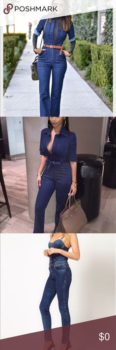 ISO: denim jumpsuit Searching for denim jumpsuit similar to the ones in the photos. Jeans Overalls
