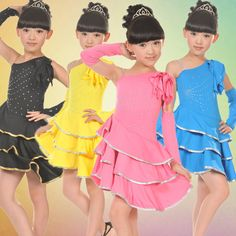 Fashion 2016 NEW Girls Performance Stage Wear Costume Children Latin Salsa Ballroom Dance Tutu Dress New Girl, Cheap Dresses, Girls Dresses, Robes Tutu, Latin Dance Dresses, Ballroom Dancing, Fashion 2016, Girl Dancing, Dance Costumes