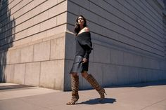 Crafted in lux leopard-printed pony hair, the Haliey boot has a wider shaft for slip-on ease. High Heel Boots, Heeled Boots, High Heels, Sigerson Morrison, Pony Hair, Fall Winter, Slip On, Printed, Fashion