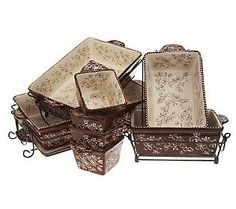 Temp-tations Floral Lace 16-Piece Oven To Table Set