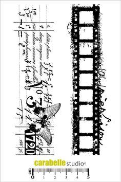 Tampon scrap cinéma et texte - Art Stamp - Carabelle Studio Tampon Scrapbooking, Collage Background, Trash Polka, Seal Design, Film Strip, Printable Designs, Tampons, Decoupage, Scrapbook Supplies