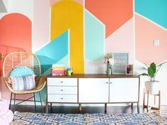 DIY Painted Geometric Wall