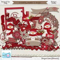 Heather Z. Scraps: Penguin Love: Element!!