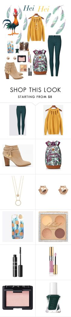 """""""Hei Hei"""" by dawndreader ❤ liked on Polyvore featuring White House Black Market, Kate Spade, River Island, Nikki Strange, NYX, Yves Saint Laurent, NARS Cosmetics and Essie"""