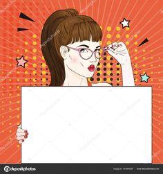Pop Art Women, Female Art, Comic Art, Comics, Illustration, Cards, Pop Art Images, White Flag, Vector Art