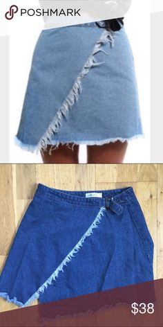Boutique denim skirt purchased from verge girl boutique. size 6, US size small. fits 24 & smaller. worn once or twice Sabo Skirt Skirts Mini