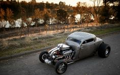 1934 Ford Coupe Twin Turbo.    http://hotrod.com/cars/featured/1401-1934-ford-twin-turbo-coupe/