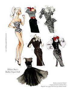 Miss Missy Paper Dolls: Robert Best Barbie Paper Doll