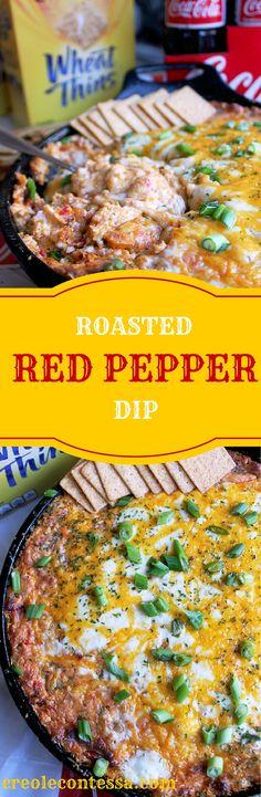 Roasted Red Pepper Dip-Creole Contessa #HomeBowlHeroContest