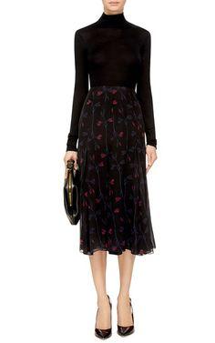 Silk Chiffon Wild Floral A-Line Skirt by Thakoon Now Available on Moda Operandi