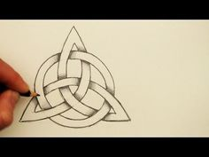 How to Draw a Celtic Knot: The Triquetra with a Circle - YouTube