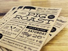 Pig Roast Invites by McMillian + Furlow , via Behance
