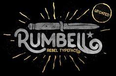 Rumbell Typeface by konstantinestudio on @creativemarket