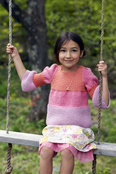 Striped Swing Sweater - Think I'll size this up for Karis. Loving the sleeve details!