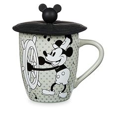 Disney Mickey Mouse Steamboat Willie Mug with Lid Mickey Mouse Cups, Mickey Mouse Cartoon, Disney Mickey Mouse, Casa Disney, Disney Home, Disney Disney, Disney Stuff, Disney Tassen, Mickey Mouse Steamboat Willie