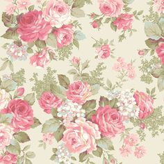 Rose Bouquet Classic Roses Ecru by Quilt Gate USA Cotton Fabric Yardage is part of Cotton bouquet 2 yard in ) or 1 yard in ) increments Fabric is not cut until ordered Stored in a - Shabby Chic Wallpaper, Fabric Wallpaper, Flower Wallpaper, Decoupage Vintage, Vintage Paper, Cotton Bouquet, Vintage Floral Wallpapers, Vintage Rosen, Flower Backgrounds
