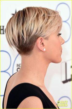 Scarlett Johansson Rocks a Chic LBD at Spirit Awards 2015. Trending HairstylesUnique HairstylesPretty HairstylesShort ...