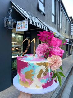 2 Tier Birthday Cakes, Elegant Birthday Cakes, Beautiful Birthday Cakes, Beautiful Cakes, Amazing Cakes, Custom Birthday Cakes, 21st Birthday, Single Layer Cakes, 21st Cake