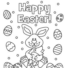 happy easter eggs coloring pages - Easter Eggs Coloring Pages
