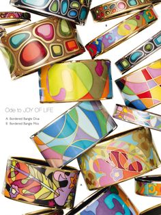 Frey Wille bangles...I adore these colors!!