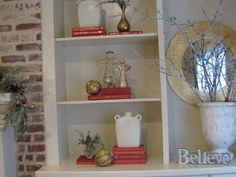 Simple Details: bookcases styled simply