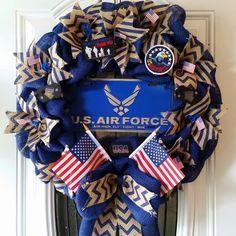 US Air Force Inspired Burlap Wreath by Johanna Nuno