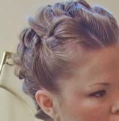Close up of bridal updo