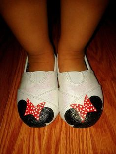 Minnie Mouse Shoes by sweetfeetbybrit on Etsy, $30.00