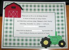 Musings of a Crafty Mom: John Deere themed Baby Shower