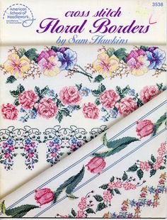 Floral Borders Cross stitch pattern by Sam Hawkins  Charted