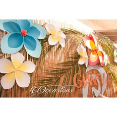 """17 Likes, 4 Comments - Vanessa Jurado (@heavenlyhandsoccasions) on Instagram: """"{Moana Part Decor} Made these Plumeria Giant Paper Flowers for our Moana Candy and Dessert Table.…"""""""