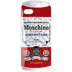 Iphone 5 case Drink Moschino - new collection ($29) ❤ liked on Polyvore featuring accessories, tech accessories, multicolor and moschino