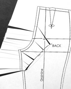 Cation Designs: That Diagonal Pants Dart! Removing extra fabric from front of pants.