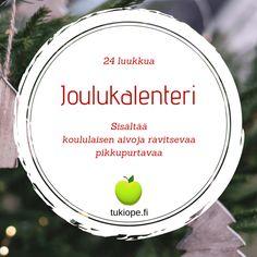 Ilmainen joulukalenteri! Archives - tukiope.fi - Yksityisopetusta koululaiselle Christmas Calendar, Xmas, How To Plan, Lesson Planning, Kindergarten, Christmas, Navidad, Kindergartens, Noel