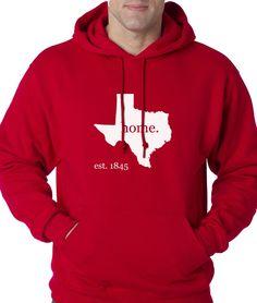 Texas Est. 1845 Home. Tee Adult Hoodie Sweatshirt