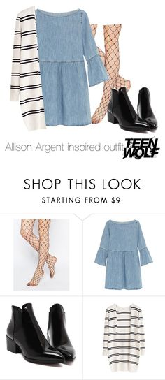 """Allison Argent inspired outfit/TW"" by tvdsarahmichele ❤ liked on Polyvore featuring ASOS, MM6 Maison Margiela, women's clothing, women, female, woman, misses and juniors"