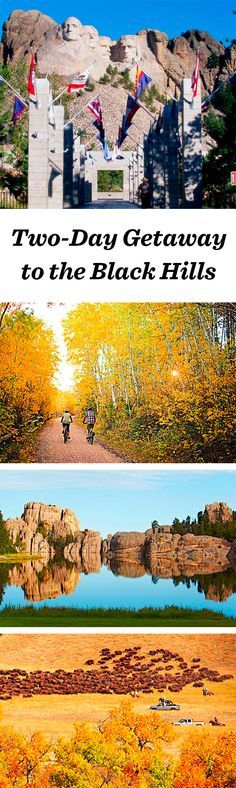 Two different itineraries for a weekend getaway in South Dakota's beautiful Black Hills: www. Vacation Destinations, Vacation Trips, Vacation Spots, Vacations, Vacation Ideas, South Dakota Vacation, South Dakota Travel, North Carolina, North Dakota