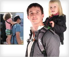 The Piggyback Rider Standing Child Carrier - DamnCoolGadgets Best Double Stroller, Double Strollers, Rock N Play Sleeper, Piggy Back Ride, Best Baby Carrier, Toddler Fun, North Face Backpack, Kids And Parenting, Baby Car Seats