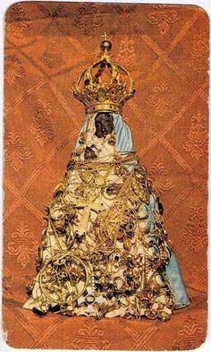 Nostra Signora di Valverde    The miraculous Madonna of Valverde, Sardinia, covered in ex votos.