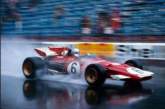 Mario Andretti (Ferrari 312B) Grand Prix de Monaco 1971 - Carros e Pilotos.