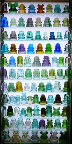 Glass insulators- power lines and telegraph